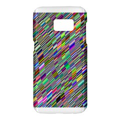 Waves Background Wallpaper Stripes Samsung Galaxy S7 Hardshell Case