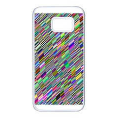 Waves Background Wallpaper Stripes Samsung Galaxy S7 White Seamless Case by Samandel