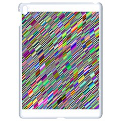 Waves Background Wallpaper Stripes Apple Ipad Pro 9 7   White Seamless Case