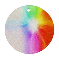 Psychedelic Background Wallpaper Ornament (round)
