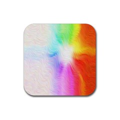 Psychedelic Background Wallpaper Rubber Coaster (square)