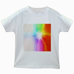 Psychedelic Background Wallpaper Kids White T Shirts by Samandel