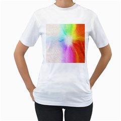 Psychedelic Background Wallpaper Women s T Shirt (white)  by Samandel