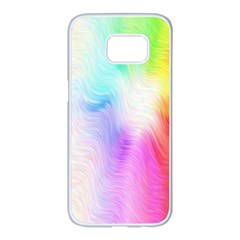 Psychedelic Background Wallpaper Samsung Galaxy S7 Edge White Seamless Case