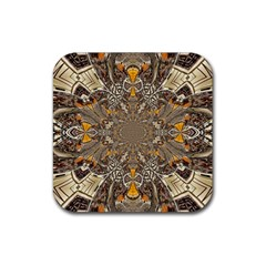 Abstract Digital Geometric Pattern Rubber Coaster (square)