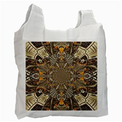 Abstract Digital Geometric Pattern Recycle Bag (one Side)
