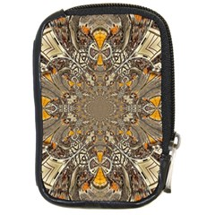 Abstract Digital Geometric Pattern Compact Camera Leather Case