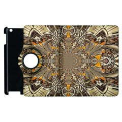Abstract Digital Geometric Pattern Apple Ipad 3/4 Flip 360 Case