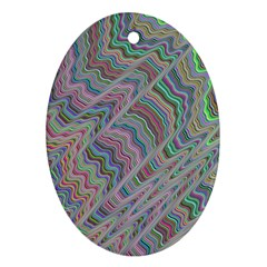 Psychedelic Background Ornament (oval)