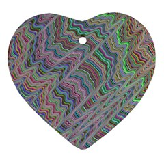 Psychedelic Background Ornament (heart) by Samandel
