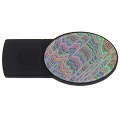 Psychedelic Background Usb Flash Drive Oval (2 Gb)