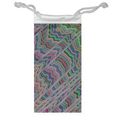 Psychedelic Background Jewelry Bag