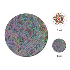 Psychedelic Background Playing Cards (round)