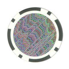 Psychedelic Background Poker Chip Card Guard (10 Pack) by Samandel