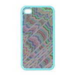Psychedelic Background Apple iPhone 4 Case (Color) Front