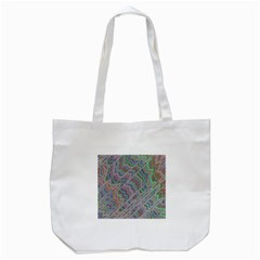Psychedelic Background Tote Bag (white) by Samandel