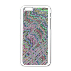 Psychedelic Background Apple Iphone 6/6s White Enamel Case