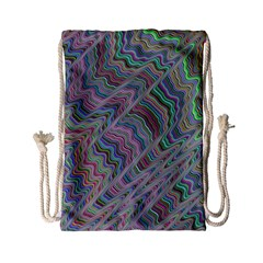 Psychedelic Background Drawstring Bag (small)