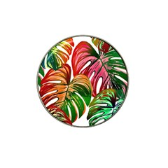 Pretty Leaves D Hat Clip Ball Marker by MoreColorsinLife