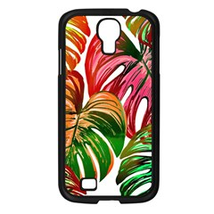Pretty Leaves D Samsung Galaxy S4 I9500/ I9505 Case (black) by MoreColorsinLife