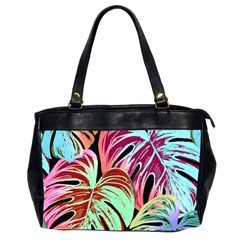 Pretty Leaves A Oversize Office Handbag (2 Sides)