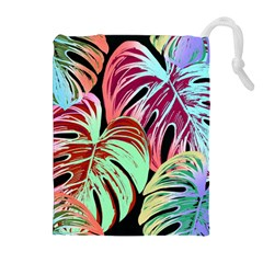 Pretty Leaves A Drawstring Pouch (xl) by MoreColorsinLife