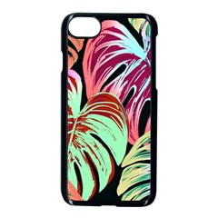 Pretty Leaves A Apple Iphone 8 Seamless Case (black) by MoreColorsinLife