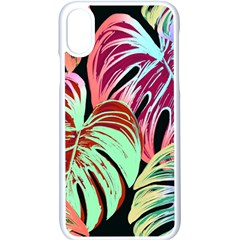 Pretty Leaves A Apple Iphone X Seamless Case (white)