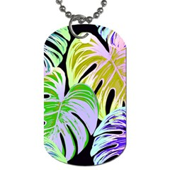 Pretty Leaves C Dog Tag (two Sides) by MoreColorsinLife