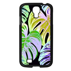 Pretty Leaves C Samsung Galaxy S4 I9500/ I9505 Case (black) by MoreColorsinLife