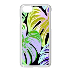 Pretty Leaves C Apple Iphone 7 Seamless Case (white) by MoreColorsinLife