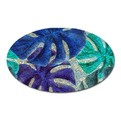 Pretty Leaves 6 Oval Magnet by MoreColorsinLife