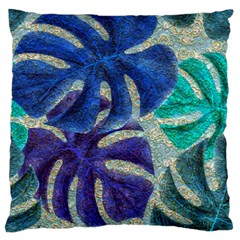 Pretty Leaves 6 Large Cushion Case (one Side) by MoreColorsinLife