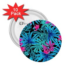 Pretty Leaves 4a 2 25  Buttons (10 Pack)  by MoreColorsinLife