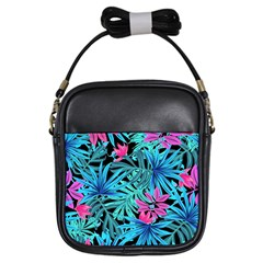 Pretty Leaves 4a Girls Sling Bag by MoreColorsinLife