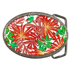 Pretty Leaves 4b Belt Buckles by MoreColorsinLife