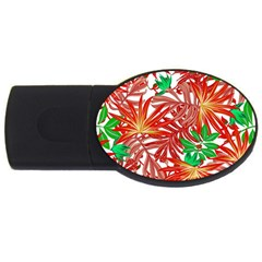 Pretty Leaves 4b Usb Flash Drive Oval (4 Gb) by MoreColorsinLife