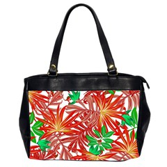 Pretty Leaves 4b Oversize Office Handbag (2 Sides) by MoreColorsinLife