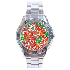 Pretty Leaves 4b Stainless Steel Analogue Watch by MoreColorsinLife