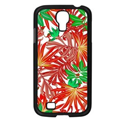 Pretty Leaves 4b Samsung Galaxy S4 I9500/ I9505 Case (black) by MoreColorsinLife