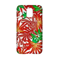 Pretty Leaves 4b Samsung Galaxy S5 Hardshell Case  by MoreColorsinLife