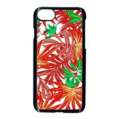 Pretty Leaves 4b Apple Iphone 8 Seamless Case (black)