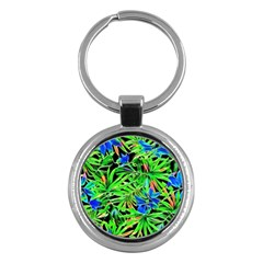 Pretty Leaves 4c Key Chains (round)  by MoreColorsinLife