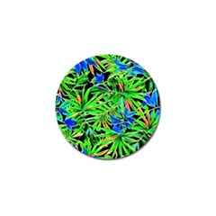 Pretty Leaves 4c Golf Ball Marker (4 Pack) by MoreColorsinLife