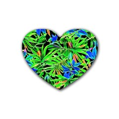 Pretty Leaves 4c Heart Coaster (4 Pack)  by MoreColorsinLife