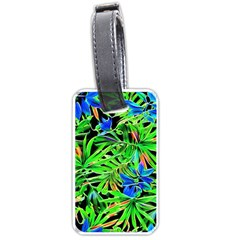 Pretty Leaves 4c Luggage Tags (one Side)  by MoreColorsinLife
