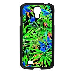 Pretty Leaves 4c Samsung Galaxy S4 I9500/ I9505 Case (black) by MoreColorsinLife