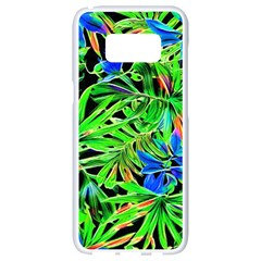 Pretty Leaves 4c Samsung Galaxy S8 White Seamless Case by MoreColorsinLife