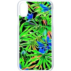 Pretty Leaves 4c Apple Iphone X Seamless Case (white) by MoreColorsinLife