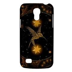 Wonderful Hummingbird With Stars Samsung Galaxy S4 Mini (gt I9190) Hardshell Case  by FantasyWorld7